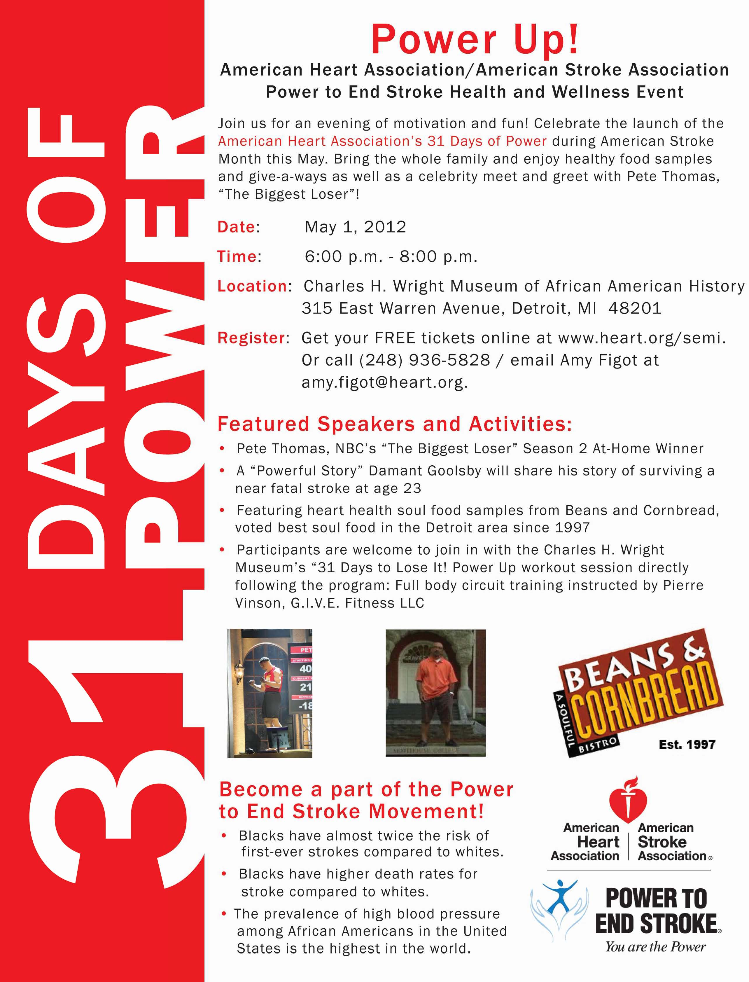 AHA Power Up! 31 Days of Power Launch Event at MAAH