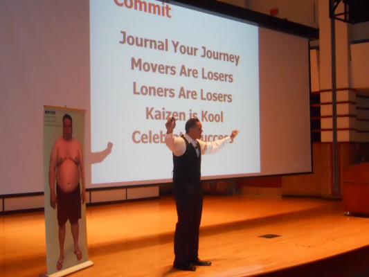 Pete Thomas offers keynote at SVSU weight-loss competition kick-off event