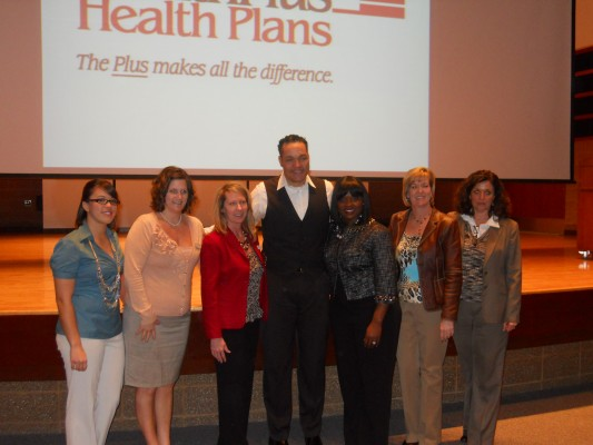Pete Thomas, SVSU event organizers and sponsor, HealthPlus
